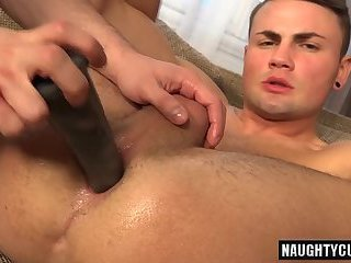 Anal,Object Insertion,gay,ass,brutal Hot gay gaping with cumshot