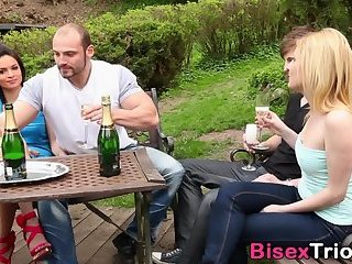 Anal,Cumshot,Bisexual,Hunks,Blowjob,gay Bisex babes in foursome
