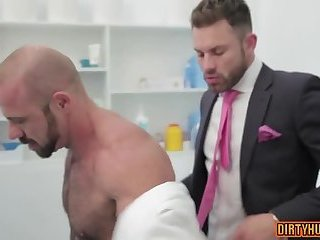 Anal,Hunks,gay,hardcore,muscle,suit Muscle gay anal sex and cumshot
