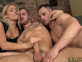 anal,cumshot,bisexual,threesome,gay Bisexual stud rides cock