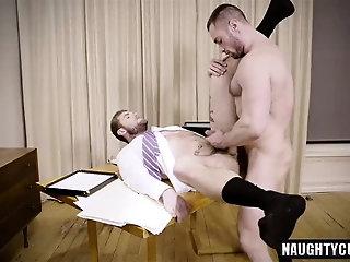 Anal,Hunks,Office,gay,creampie Tattoo gay anal sex and creampie