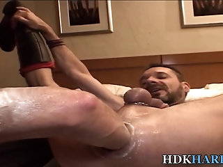 Big Cock,Fisting,Bareback,gay Rimmed knight gets fisted